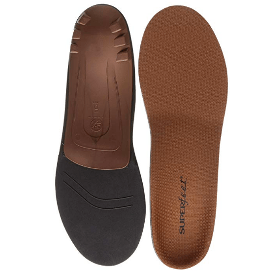 Superfeet COPPER, Memory Foam Comfort Orthotic Insoles, Unisex, Copper